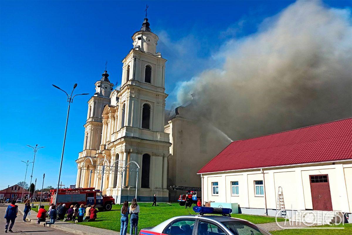 Pożar w sanktuarium Matki Bożej Budsławskiej